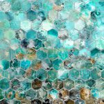 wd10361b-aqua-hive-silver-canvas-painting-w-colourgel-100-x-100-cm